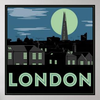 Art Deco Style London Poster