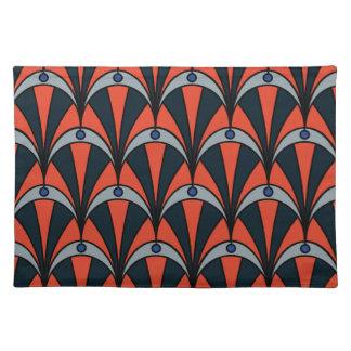 Art deco style pattern placemat