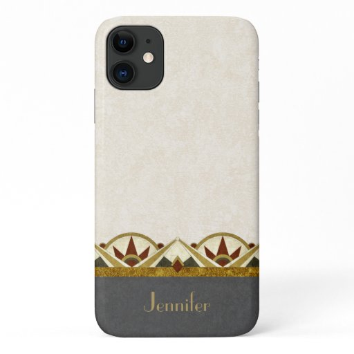 Art Deco Style Personalized iPhone 11 Case