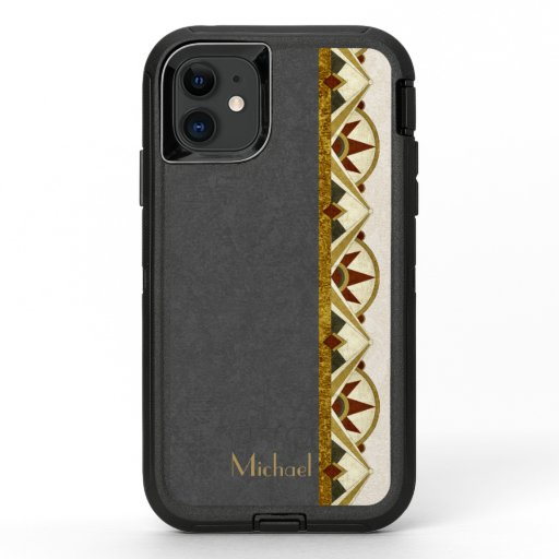 Art Deco Style Personalized OtterBox Defender iPhone 11 Case