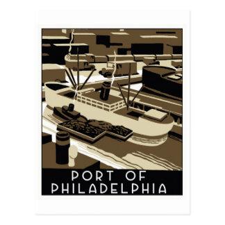 Art Deco style Port of Philadelpia Postcard