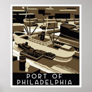 Art Deco style Port of Philadelpia Poster
