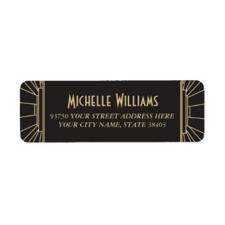 Art Deco Style Return Address Labels at Zazzle