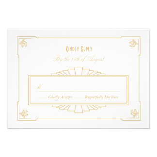 Art Deco Style RSVP Card