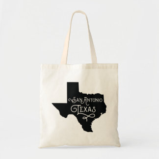 Art Deco Style San Antonio Texas Tote Bag - Black