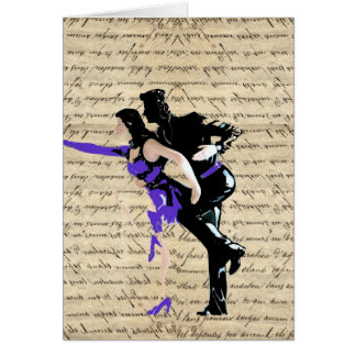 Art Deco style vintage dancers Card