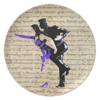 Art Deco style vintage dancers Melamine Plate