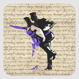 Art Deco style vintage dancers Square Sticker