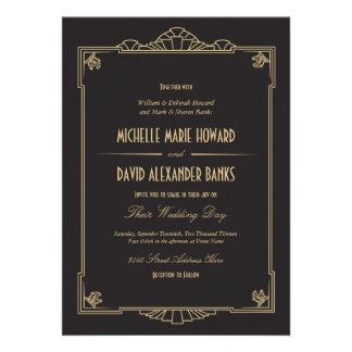 Art Deco Style Wedding Invitation