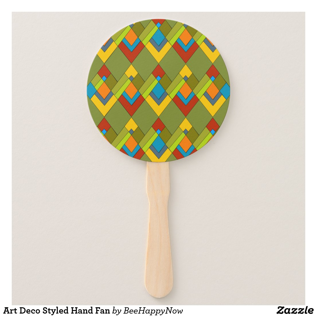 Art Deco Styled Hand Fan
