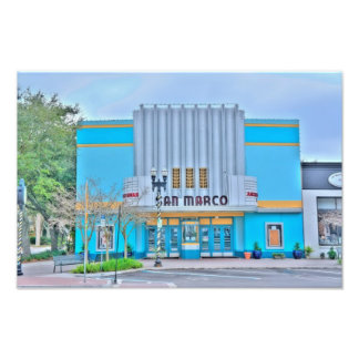Art Deco styled San Marco Theater Photograph