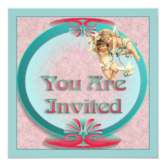 Art Deco Styled Wedding Invitation