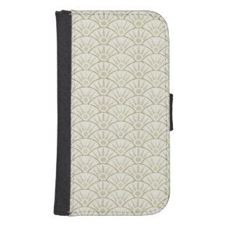 Art Deco Sunburst Seigaiha Scallops Phone Wallet Cases