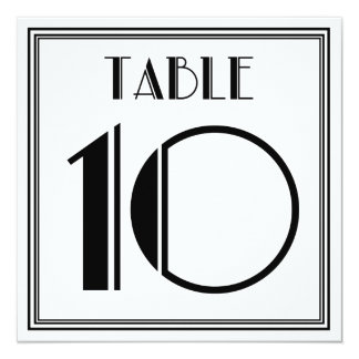 Art Deco Table Number 10 Card