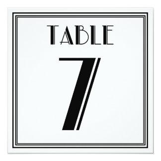 Art Deco Table Number 7 Invitation
