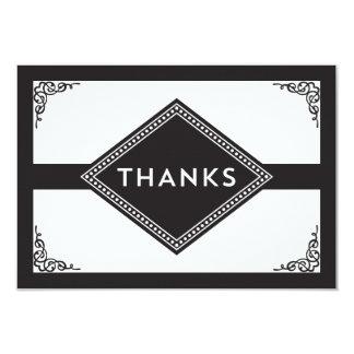 Art Deco Thank You 3.5x5 Paper Invitation Card