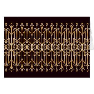 Art Deco Thank You or Note Card