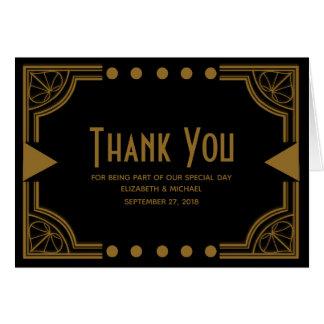Art Deco Theme Wedding Thank You Card