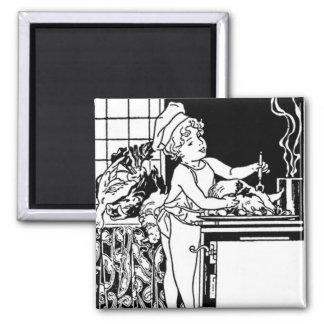 Art Deco Tile For Kitchen 2 Inch Square Magnet