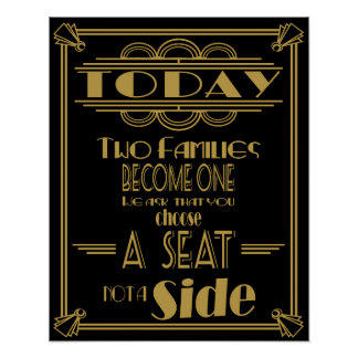 """Art Deco """"Today two families become one poster"""