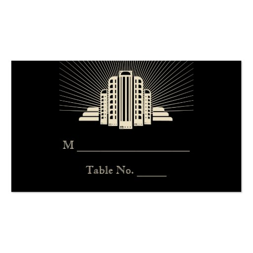 Art Deco Tower Ray Wedding Place Cards Business Cards