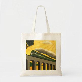 Art Deco Train unique Tote bag