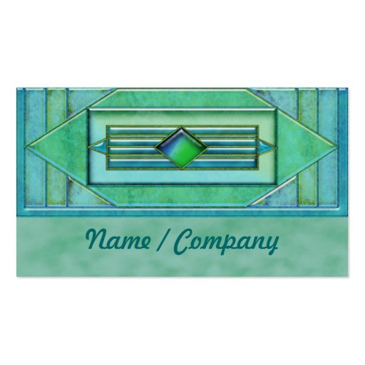 Art Deco Turquise Jewels Business Card