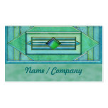 Art Deco Turquise Jewels Business Cards