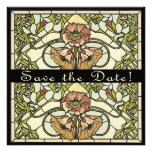 Art Deco Two Sided Customizable Save the Date Card Invitations