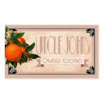 Art Deco Uncle John's orange cookies favor | blush Business Card Template