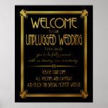 Art Deco unplugged wedding GATSBY print GOLD