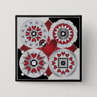 Art Deco Valentine 01 Button