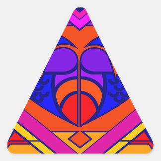 Art Deco Valentine Heart Triangle Sticker