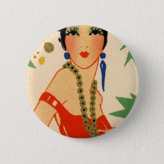 Art Deco Vamp, 1920s Flapper Button