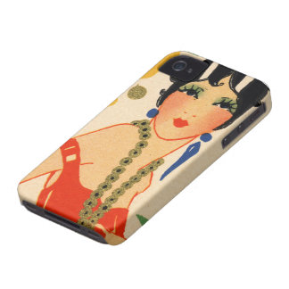 Art Deco Vamp, 1920s Flapper iPhone 4 Covers