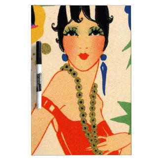 Art Deco Vamp, 1920s Flapper Dry-Erase Board
