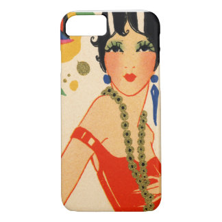 Art Deco Vamp, 1920s Flapper iPhone 8/7 Case