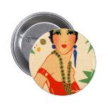Art Deco Vamp, 1920s Flapper Pin