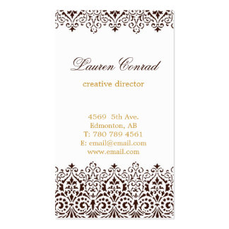 Art Deco Vertical Business Card with Monogram