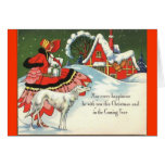 Art Deco Victorian Style Christmas Greeting Cards