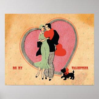 Art Deco Vintage ~ Be My Valentine Poster