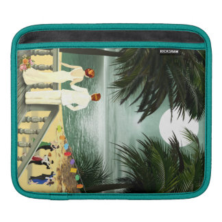 Art Deco Vintage Beach iPad Sleeve