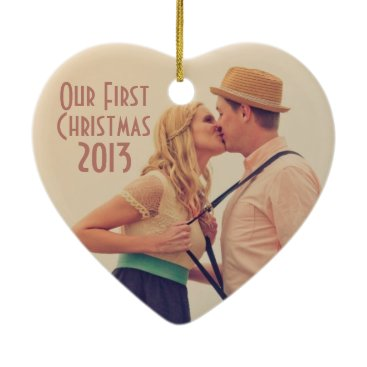 Beach Themed Art Deco Vintage Beach Wedding Ceramic Ornament