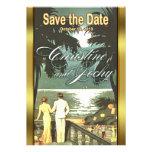 Art Deco Vintage Beach Wedding Invite