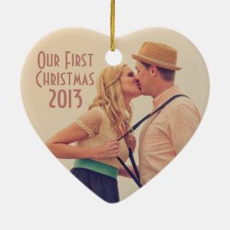 Art Deco Vintage Beach Wedding Christmas Ornaments