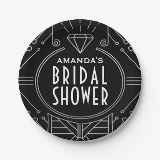 Vintage Bridal Shower Plates Zazzle