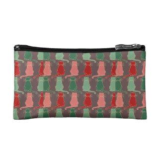 Art deco,vintage,cat pattern,art nouveau,trendy,mo cosmetic bag