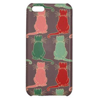 Art deco,vintage,cat pattern,art nouveau,trendy,mo iPhone 5C cover