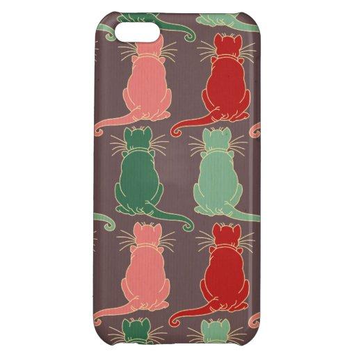 Art deco vintage cat pattern art nouveau trendy mo iphone 5c cover zazzle - Trendy deco eetkamer ...