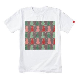 Art deco,vintage,cat pattern,art nouveau,trendy,mo zazzle HEART T-Shirt